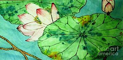 Painting - Shy Lotus by Betty M M Wong