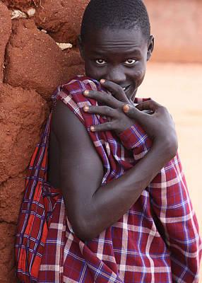 Photograph - Shy Massai by Joel Gilgoff