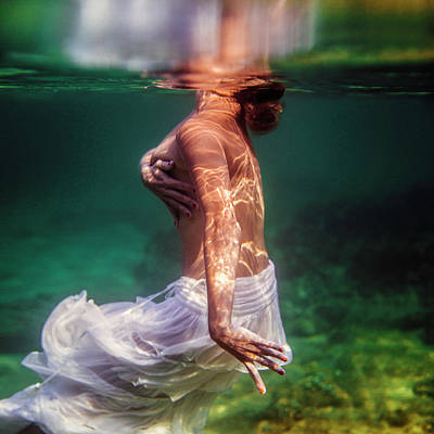 Photograph - Shy Mermaid by Gemma Silvestre