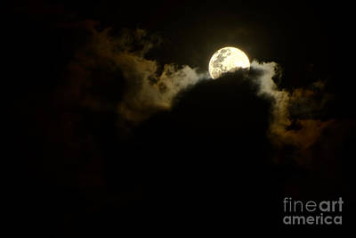 Shy Moon Rising By Kaye Menner Art Print by Kaye Menner
