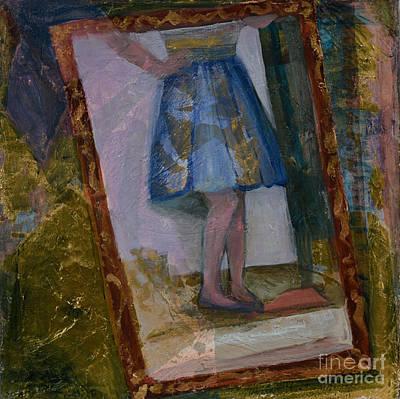 Mixed Media - Shy Reflection by Carol Oufnac Mahan