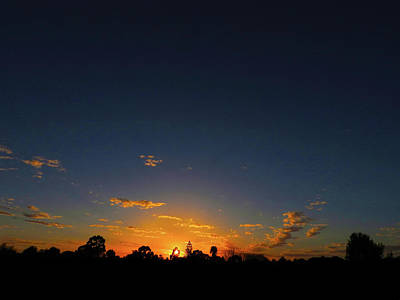 Photograph - Shy Sunset by Mark Blauhoefer