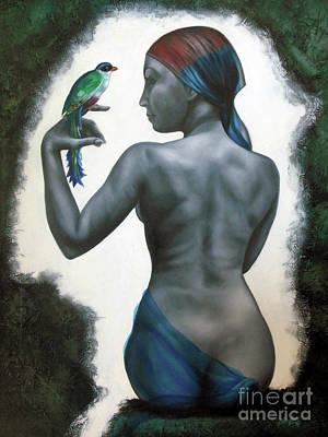 Si Tu Supieras Cuanto Art Print by Jorge L Martinez Camilleri