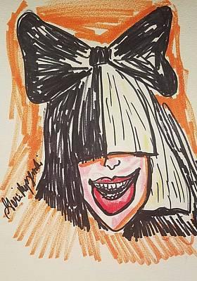 Cartoonist Painting - SIA by Geraldine Myszenski