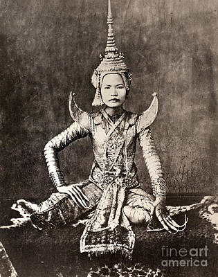 Photograph - Siam: Dancer, C1870 by Granger