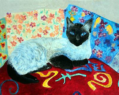 Painting - Siamese Cat by Anne Sands