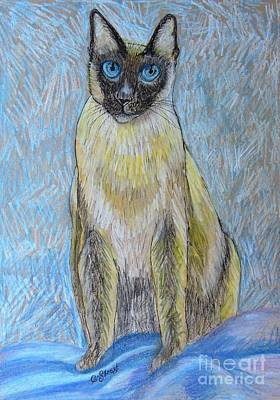 Siamese Cat Art Print by Caroline Street