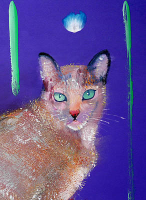 Painting - Siamese Cat by Charles Stuart