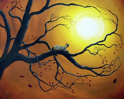 Siamese Cat In Golden Splendor Original by Laura Iverson