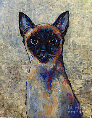 Painting - Siamese Cat by Peggy Wilson