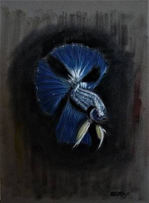 Pastel - Siamese Fighting Fish 2 by Richard Le Page