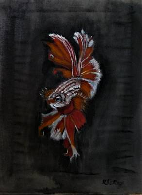 Whimsical Flowers - Siamese Fighting Fish by Richard Le Page