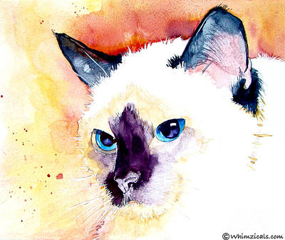 Painting - Siamese by Jo Lynch