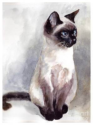 Siamese Kitten Portrait Original