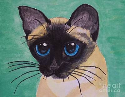 Painting - Siamese by Leslie Allen