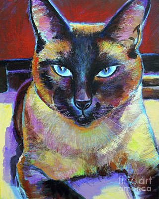 Painting - Siamese by Robert Phelps