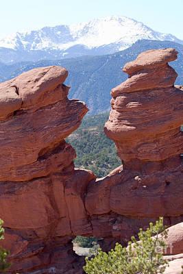 Steven Krull Royalty-Free and Rights-Managed Images - Siamese Twins and Pikes Peak by Steven Krull