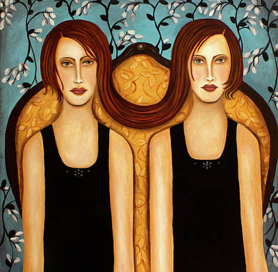 Siamese Twins Art Print by Leah Saulnier The Painting Maniac