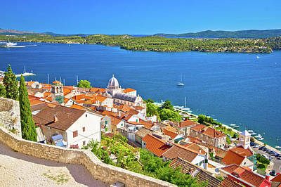 Photograph - Sibenik Waterfront And St James Cathedral View From Above by Brch Photography