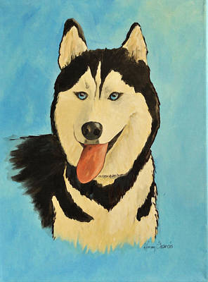 Painting - Siberian Husky - Donali by Kenny Francis