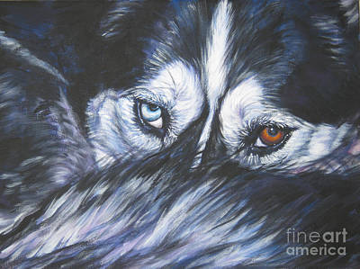 Mushing Painting - Siberian Husky Eyes by Lee Ann Shepard
