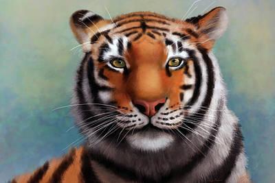 Digital Art -  Siberian Tiger by Angela Murdock