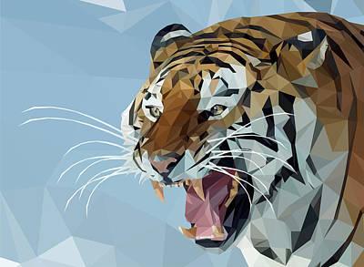 Raging Mixed Media - Siberian Tiger by Denis Bajan
