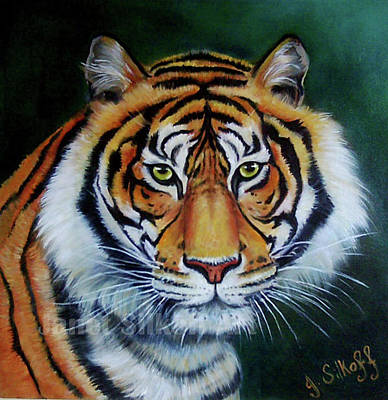 Painting - Siberian Tiger by Janet Silkoff