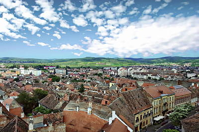 Photograph - Sibiu Cityscape by Anthony Dezenzio