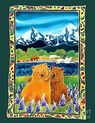 Sibling Bears Of Katmai Art Print by Harriet Peck Taylor
