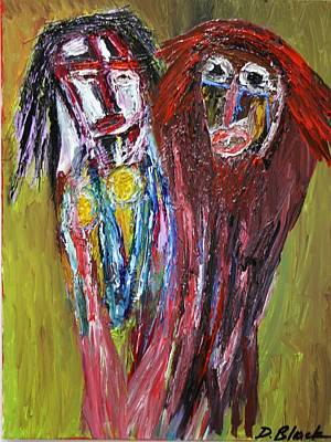 Painting - Siblings   by Darrell Black