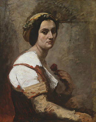 Painting - Sibylle by Jean-Baptiste-Camille Corot