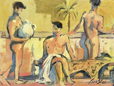 Painting - Sicilian Boys by Nop Briex