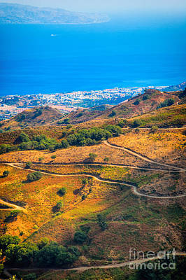 Photograph - Sicilian Winding Road by Silvia Ganora