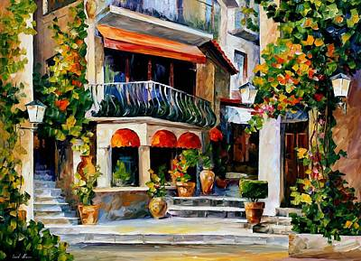Sicily - Spring Morning Art Print by Leonid Afremov
