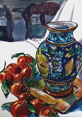 Tangerine Painting - Sicily Memories by Doranne Alden