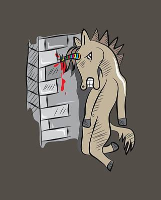 Sick Unicorn Art Print