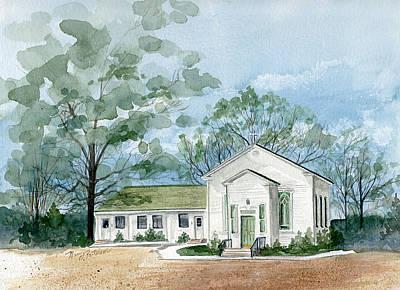 Sicklerville 1859 Church  Art Print