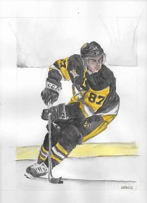 Sidney Crosby Painting - Sid The Kid by Brandon Hudak
