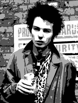 Punk Painting - Sid Vicious by Dan Carman