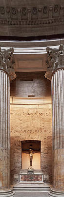 Photograph - Side Alter Inside Pantheon Rome Italy by Alex Saunders