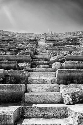 Side Amphitheatre Stairway Art Print by Antony McAulay