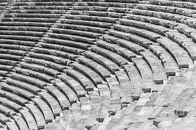 Side Amphitheatre Steps Art Print by Antony McAulay