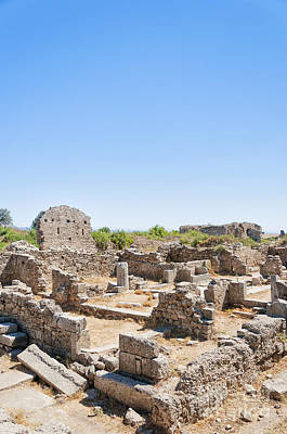 Roman Archaeology Photograph - Side Ancient Shop Ruins by Antony McAulay