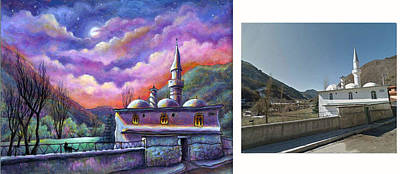 Painting - Side By Side Painting And Photo by Retta Stephenson