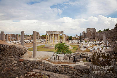 Commercial Archeology Photograph - Side Commercial Agora by Sophie McAulay
