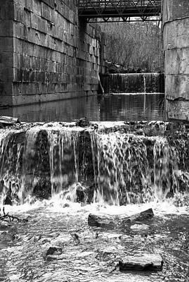 Photograph - Side Cut Metropark Canal Locks by Dan Sproul