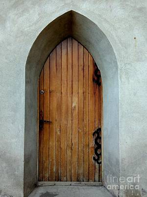 Photograph - Side Door Of A Fortress Church  by Erika H
