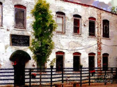Side Door Restaurant On Main - Honesdale Pa Art Print by Janine Riley
