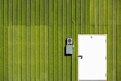 Sheet Metal Photograph - Side Of Green by Todd Klassy